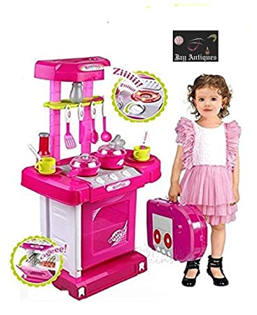Buy Jay Antiques Kitchen Set Kids Luxury Battery Operated Kitchen Super Set Toy Multi Color Online At Low Prices In India Amazon In