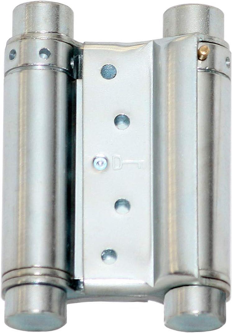 Bisagra para puerta de péndulo en ambos lados, 75 mm, puerta oscilante, banda para puerta, plata V.: Amazon.es: Bricolaje y herramientas