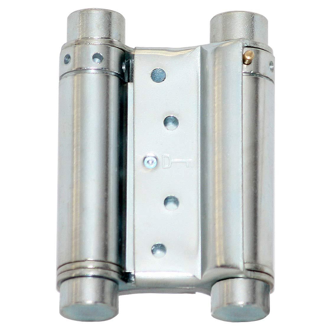 Pendelt/ürband beidseitig 75 mm Pendelt/ürscharnier Schwingt/ür T/ürband Silber V.
