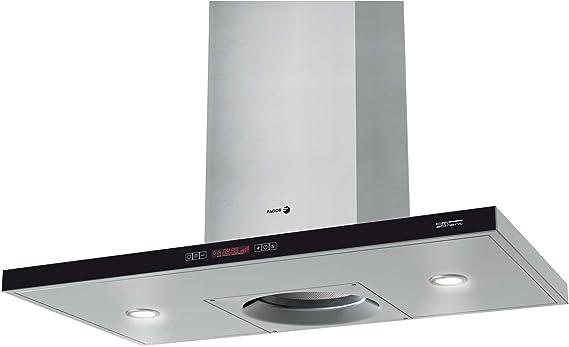Fagor CFB-90AX ES - Campana (Recirculación, 850 m³/h, Montado en pared, Halógeno, Acero inoxidable, 1 piezas): Amazon.es: Hogar