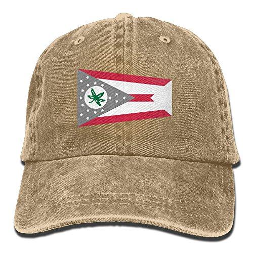 NaNa-Home-Marijuana-Ohio-Flag-Stylish-Denim-Baseball-Adjustable-Caps-Hats