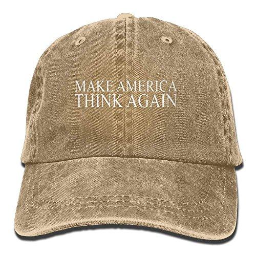 Aegatelate-hat Make America Think Again Adjustable Cotton Hat
