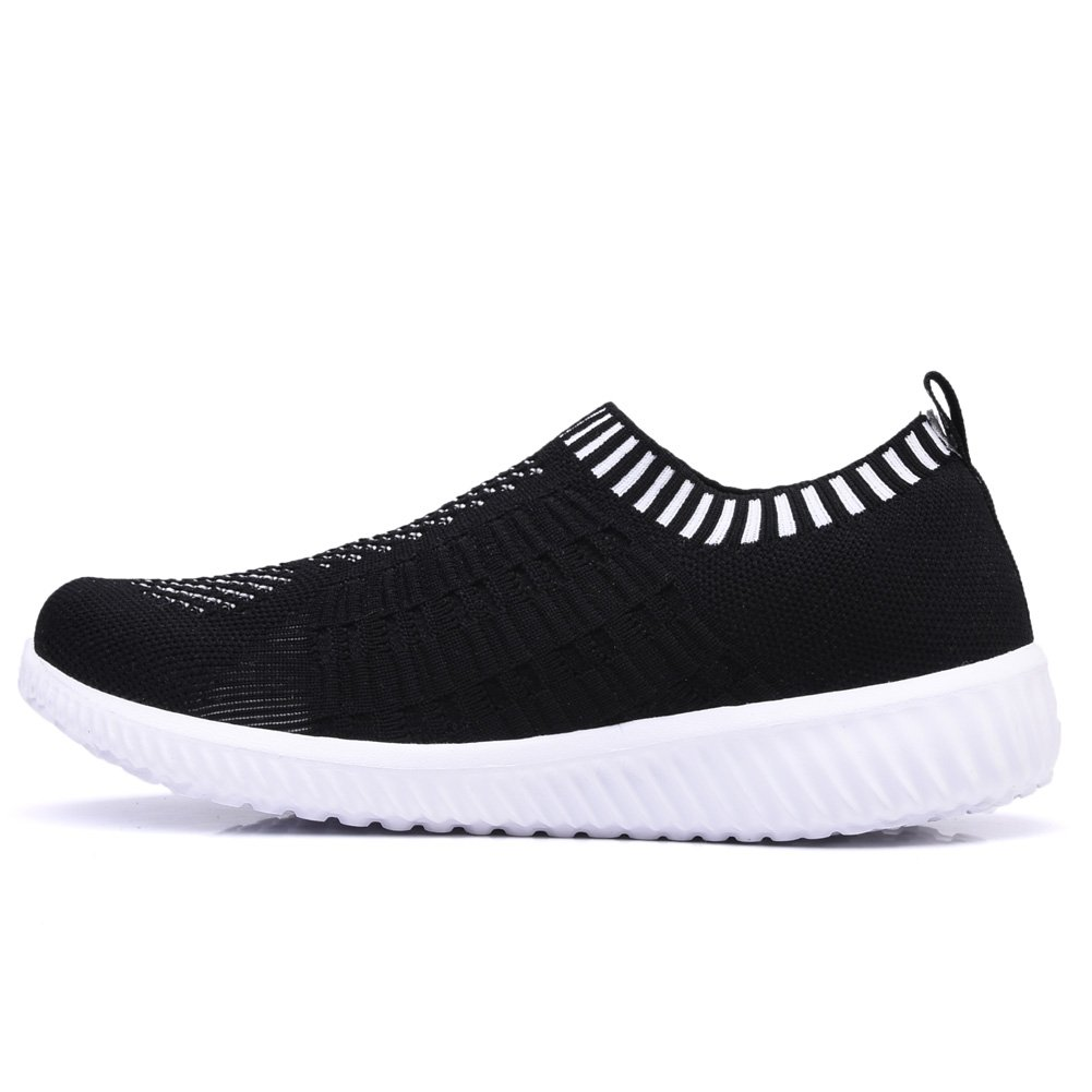 TIOSEBON Women's Athletic Shoes Casual Mesh Walking Sneakers - Breathable Running Shoes B074FZQ2H8 10 M US|6701 Black