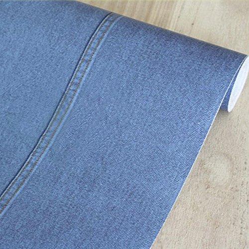 Review SimpleLife4U Blue Denim Pattern Self-Adhesive PVC Shelf Drawer Liner Home By SimpleLife4U by SimpleLife4U
