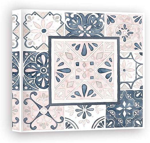 Impresión sobre Lienzo Wall Art Marshall Laura Garden Getaway Patchwork V Blush: Amazon.es: Hogar