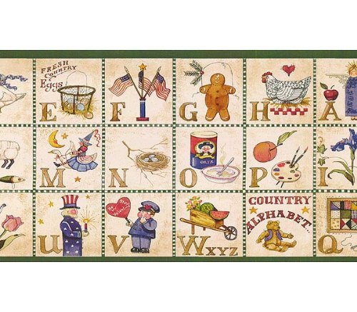 Country Alphabet Wall Border Classroom product image