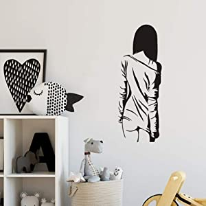 WOVTCP Sexy Naked Girl Woman Teen Bedroom Vinyl Removable Wallpaper for Locker Room Wall Decals Home Decor