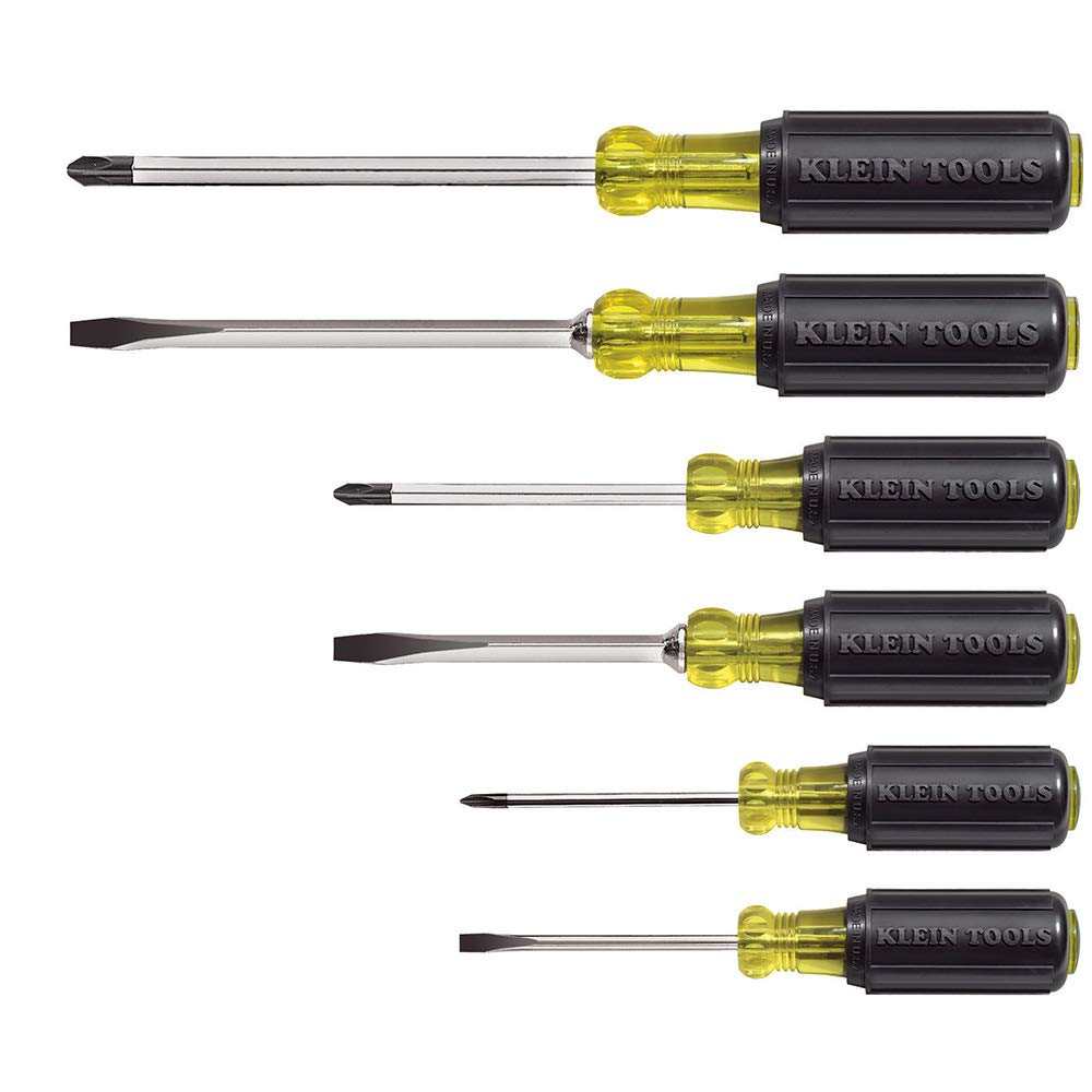 Klein Tools Screwdriver 6-Piece Set Cushion-Grip Assorted KLNT-85074-01