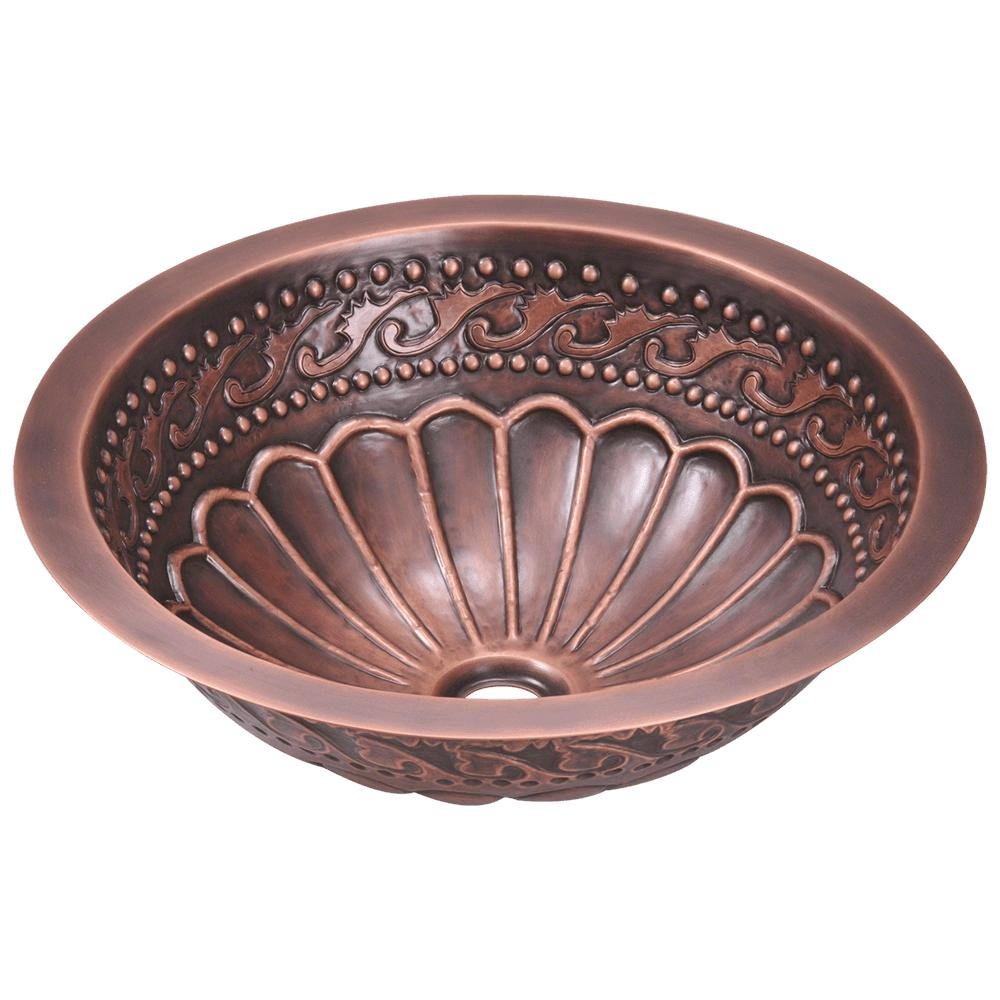 924 Single Bowl Copper Bathroom Sink by MR Direct