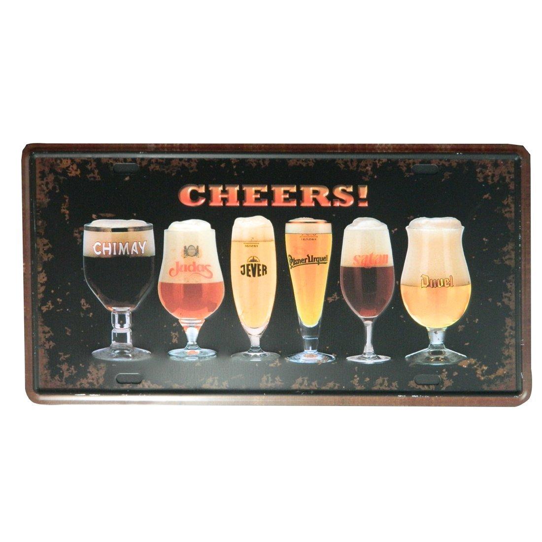 IPEKOO Whisky JACK DANIELS-Metal Sign-Placca da muro in latta con pubblicità Vintage Pub Retro Metal Sign-15,24 cm (6) 30,48 (12 x cm, A 24 cm (6) 30
