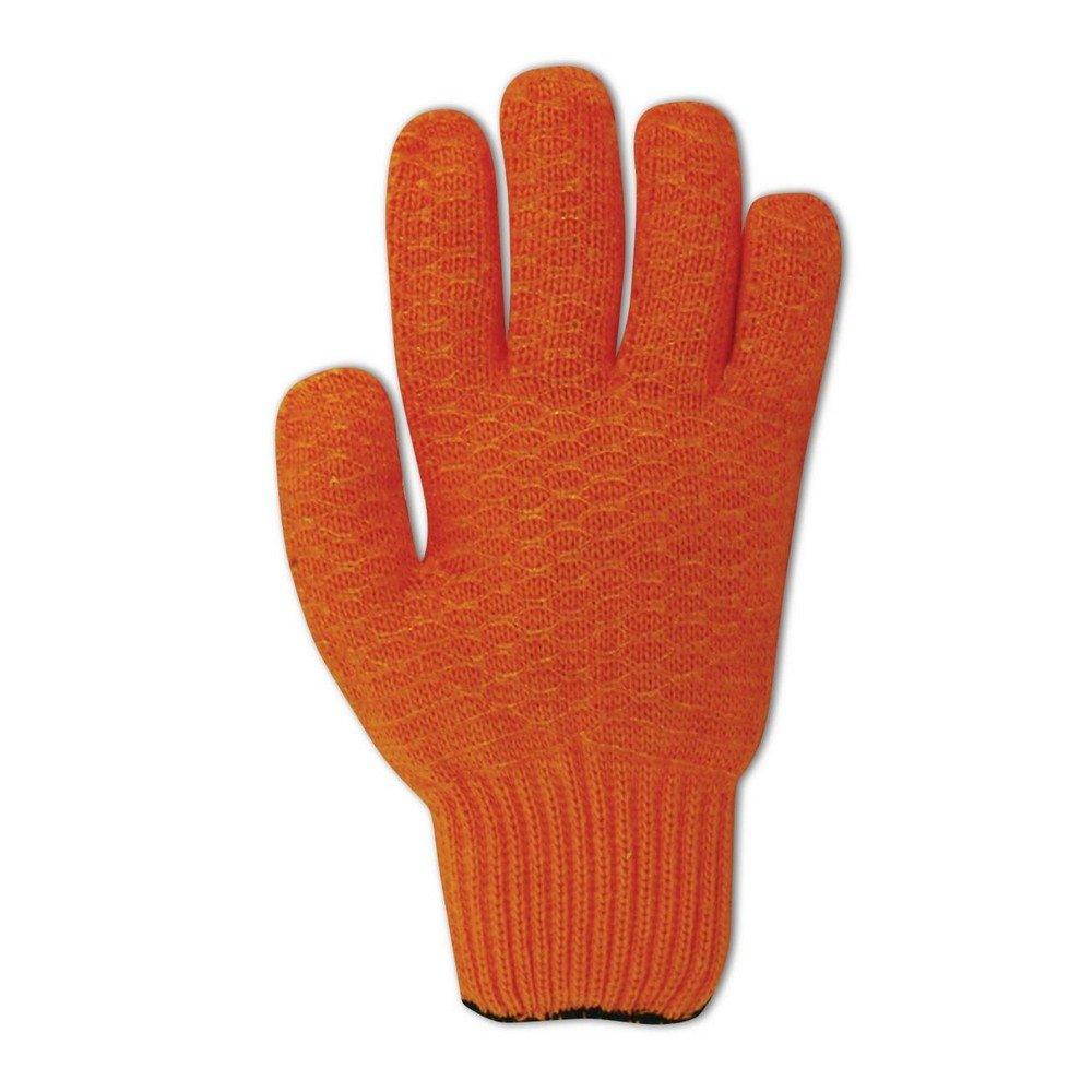 Magid Glove & Safety 5930CC-L Magid MultiMaster 5930CC Orange Criss-Cross Coated Reversible Machine Knit Gloves, 6, Yellow, Large (Pack of 12)