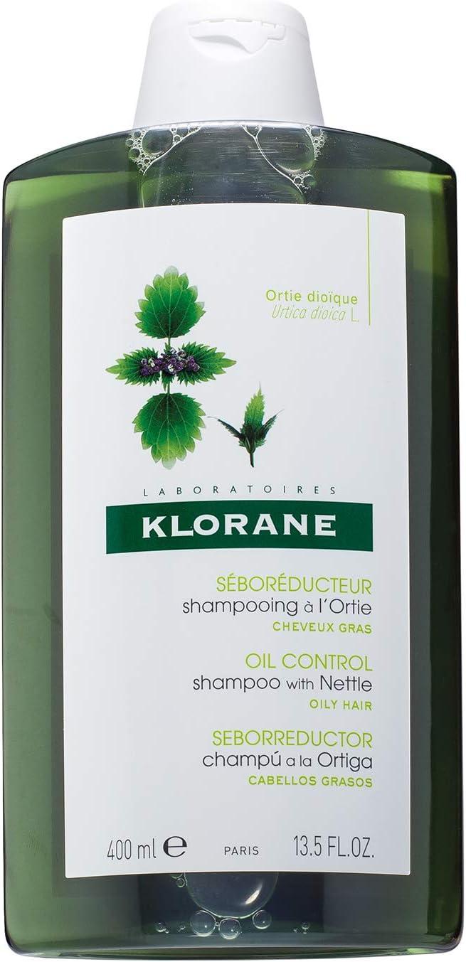 Klorane Shampoo with Nettle Mujeres No profesional Champú 400ml - Champues (Mujeres, No profesional, Champú, Cabello graso, 400 ml, Voluminizadora)