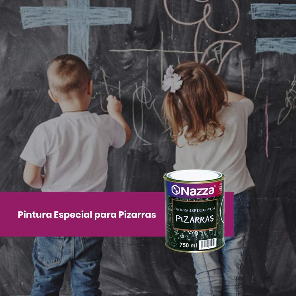 Pintura Pizarra para Paredes Nazza | Convierte tu pared en una pizarra | Fácil borrado y lavado | Color Verde | Envase de 750 ml.: Amazon.es: Bricolaje y herramientas