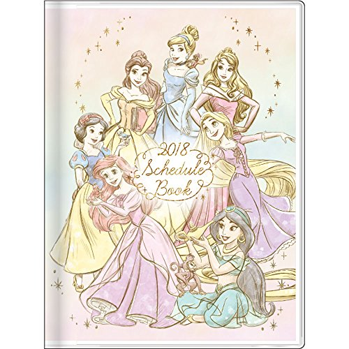 Disney Princess 2018 Monthly Planner Notebook A6 size S2940892