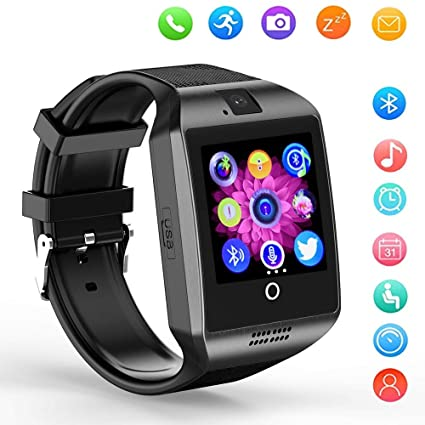 Smart Watch,Bluetooth Smartwatch Touch Screen Wrist Watch with Camera/SIM Card Slot,Phone Smart Watch for Kids Young Lady Sports Fitness Tracker ...