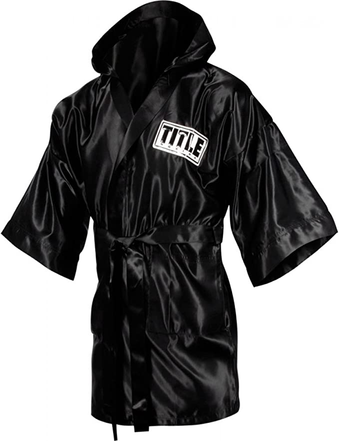 TITLE Boxing Full Length Stock Satin Robe