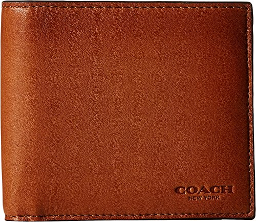 COACH Double Billfold Wallet Saddle