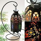 Himalayan Salt Rock Lamp Vintage Hanging with Lantern Holder Cage Dimmer Control Switch (Black)