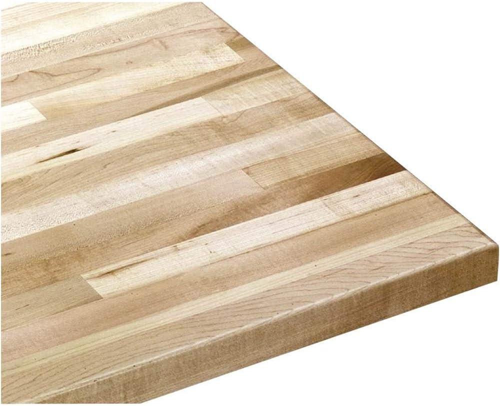 Wooden Butcher Block Countertop Solid Wood Work Bench Shelf Table Top Kitchen