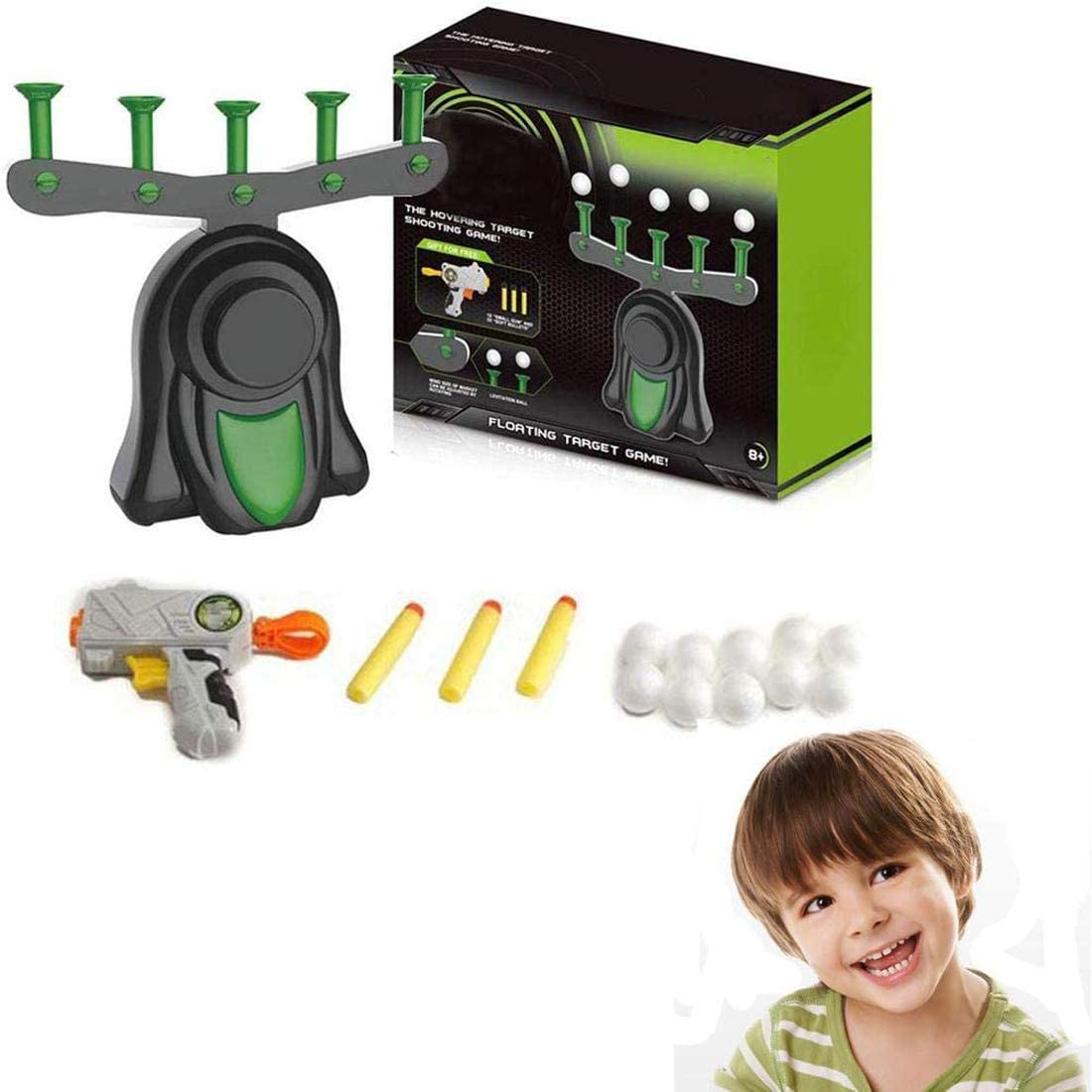 Boys and Girls TIKTOK Shooting Games for kids Electronic Running Target Toy Set with2 Players ,Foam Ball Popper Air shooting /& 18 Foam Balls,Moving Shooting Game Gift for Age 6 7 8
