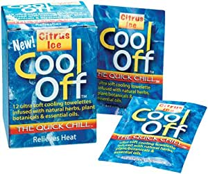 Cool Off® Citrus Ice Towelettes 12 Count