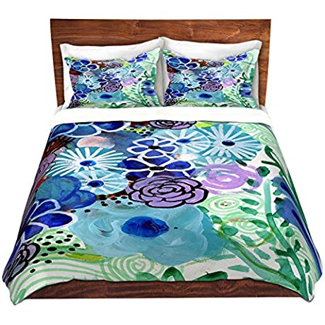 Duvet Cover Brushed Twill Twin Queen King SETs DiaNoche Designs Robin Mead Jenny