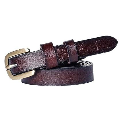 e7c0a662 Cinturon elástico de mujer Cinturón de cuero de color sólido Pin ...