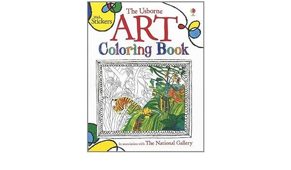 The Usborne Art Coloring Book Books Sarah Courtauld 9780794529765 Amazon