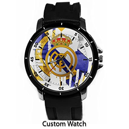 Amazon.com: Real Madrid Club de Footbal personalizado reloj ...