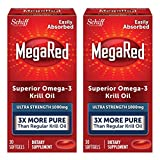 MegaRed 1000mg Ultra Strength Omega-3 Krill Oil, 30 softgels (Pack of 2) For Sale