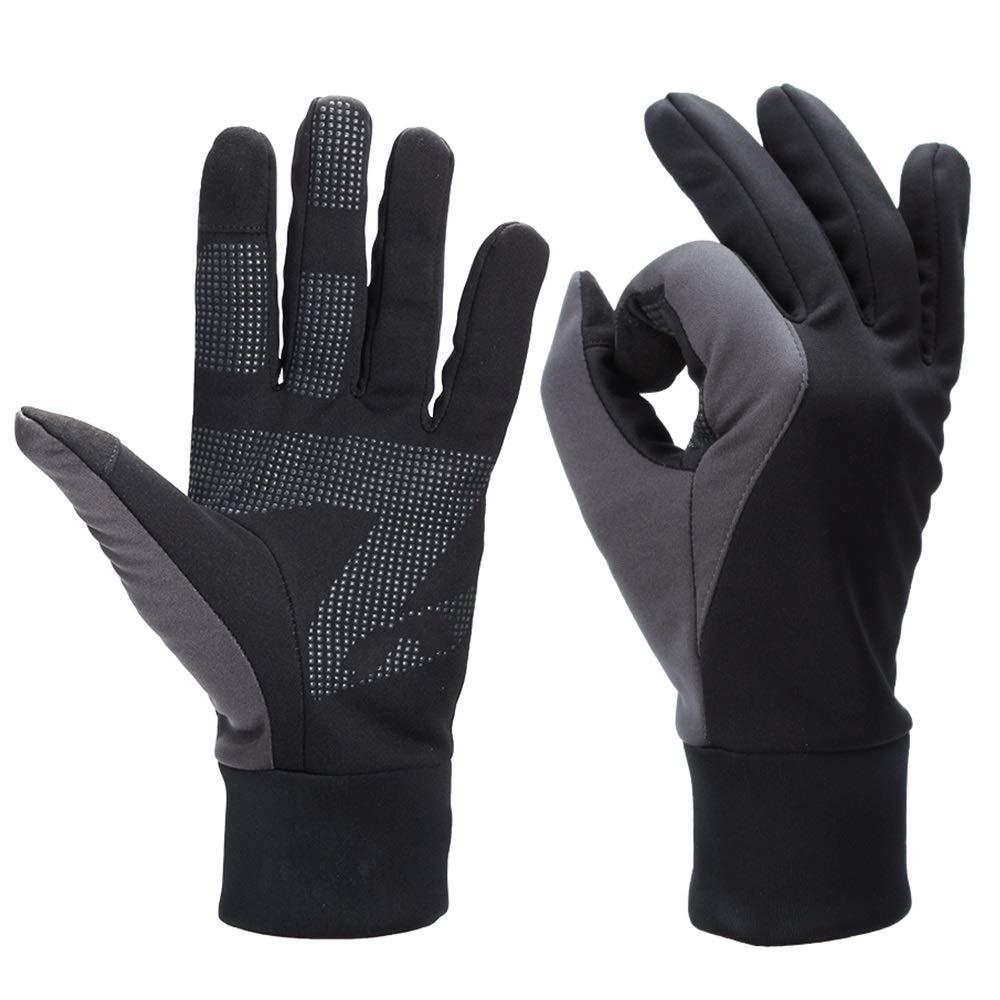 KLEDDP Windproof Touchscreen Handschuhe Herren Outdoor Sports Lokomotive Reiten Motorrad Warm Und Spritzwassergeschützt, Dunkelgrau Handschuhe für Männer