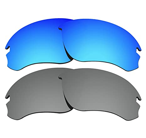 d9c5d9d025 Amazon.com  2 Pairs COLOR STAY LENSES 2.0mm Thickness Polarized Replacement  Lenses for Oakley Speed Jacket OO9228 Blue Mirror   Titanium.  Home  Improvement
