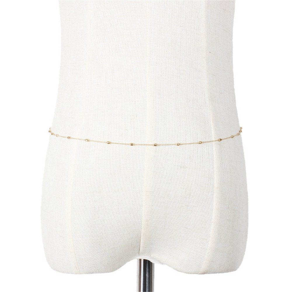 Lureme Beach Bikini Waist Chain with Beads Thin Belly Chain Jewelry for Women (bt000031) Yida bt000031-1