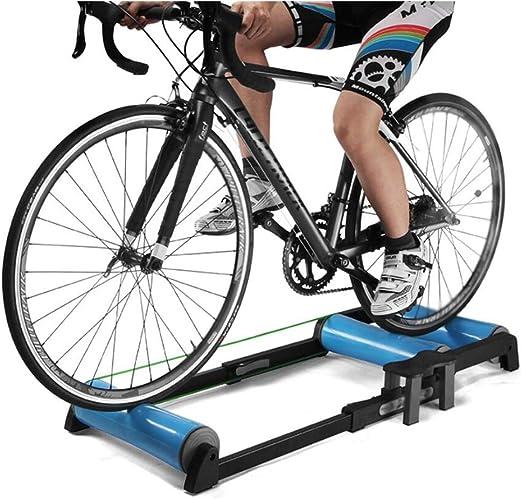 LUCKFY Ciclismo Indoor parabólica Rodillo de Bicicletas Trainer Soporte Cubierta Equipo de la Aptitud para 24 a 29 y 700C Bicicletas de montaña y Carretera,Azul: Amazon.es: Deportes y aire libre