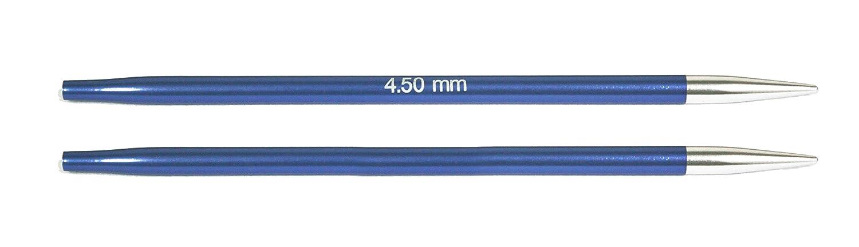 2-Einheiten KnitPro wechselbare Nadelspitzen ZING lang Iolite blau 12.5 x 0.45 x 0.45 cm 4,50mm Rundstricknadel Aluminium