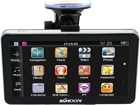 pour Navigation Portable 7 128/Mo de RAM, ROM 4/Go, FM, MP3, lecteur vid/éo, Bluetooth, avec support /à ventouse, carte europ/éenne KKmoon GPS HD 18 cm