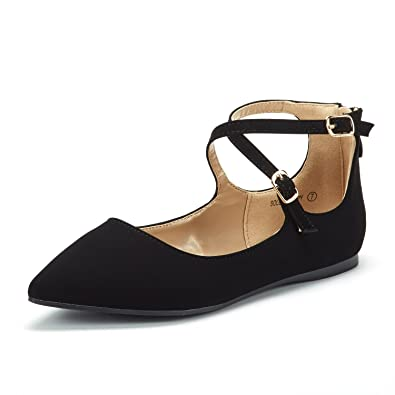 a48aaa1a8796c DREAM PAIRS Women's Ankle Straps Marry Jane Ballerina Flat Shoes