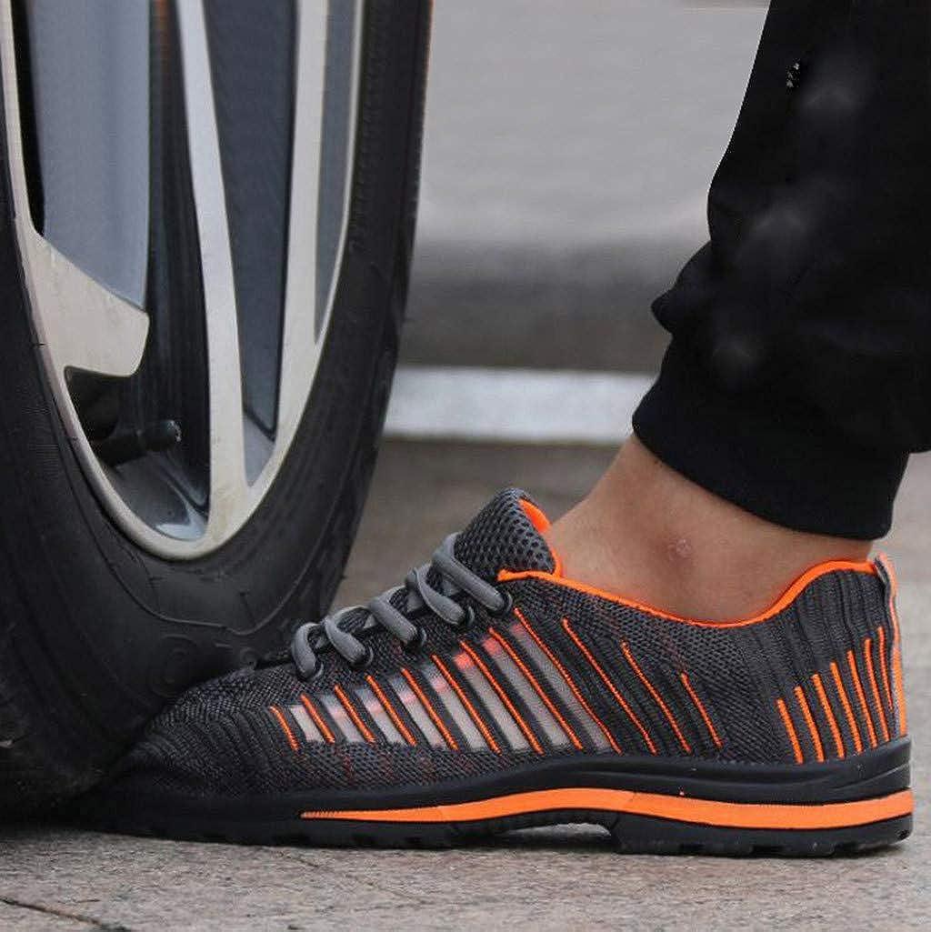 Huihong 2019 Zapatos Deportivos Casuales de Moda Calzado de Trabajo Deportivo al Aire Libre Transpirable de Malla para Hombres Calzado Casual de Seguridad