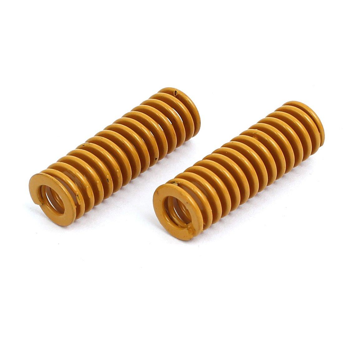 10mm /Ø Ext 30mm long Moule compression charge plus l/ég/ère ressort matrice jaune 10pcs