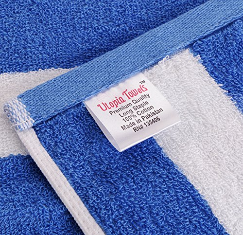 Utopia Towels Cotton Large Hand Towel Set (4 Pack, Stripe Blue - 16 x 28 Inches) - Multipurpose Bathroom Towels for Hand, Face, Gym and Spa by Utopia Towels (Image #7)