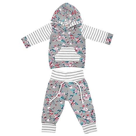 Conjunto de ropa infantil para bebés Algodón A rayas Impreso ...