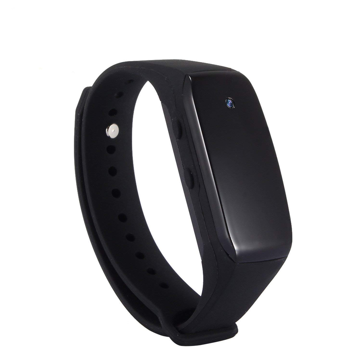 eoqo 1080P Full HD Buckle Bracelet Spy Camera - Support Video Recording with Adjustable Wristband + 8GB Micro SD Card