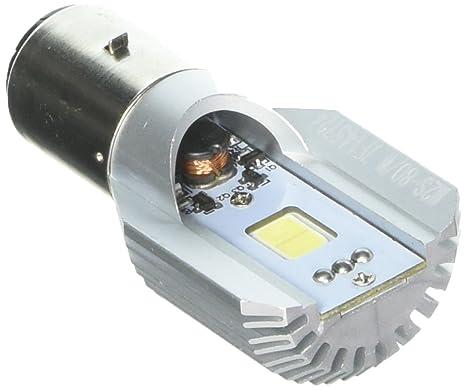 Luces LED para motocicleta Racbox, Faro COB Ba20d, luces largas y de cruce,