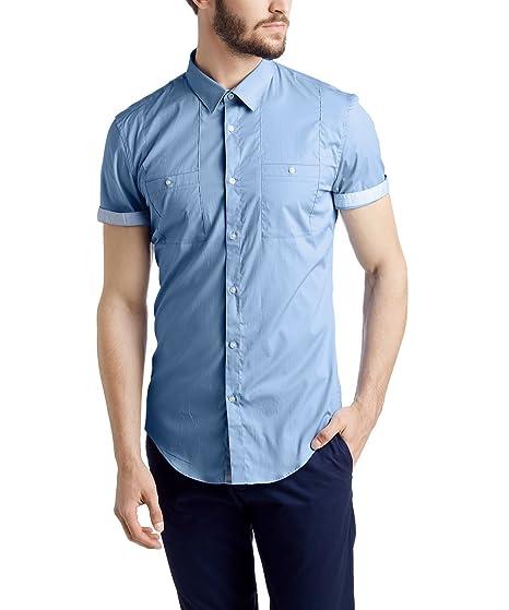 Esprit Slim Fit - Camisa de Manga Corta para Hombre, Color ...