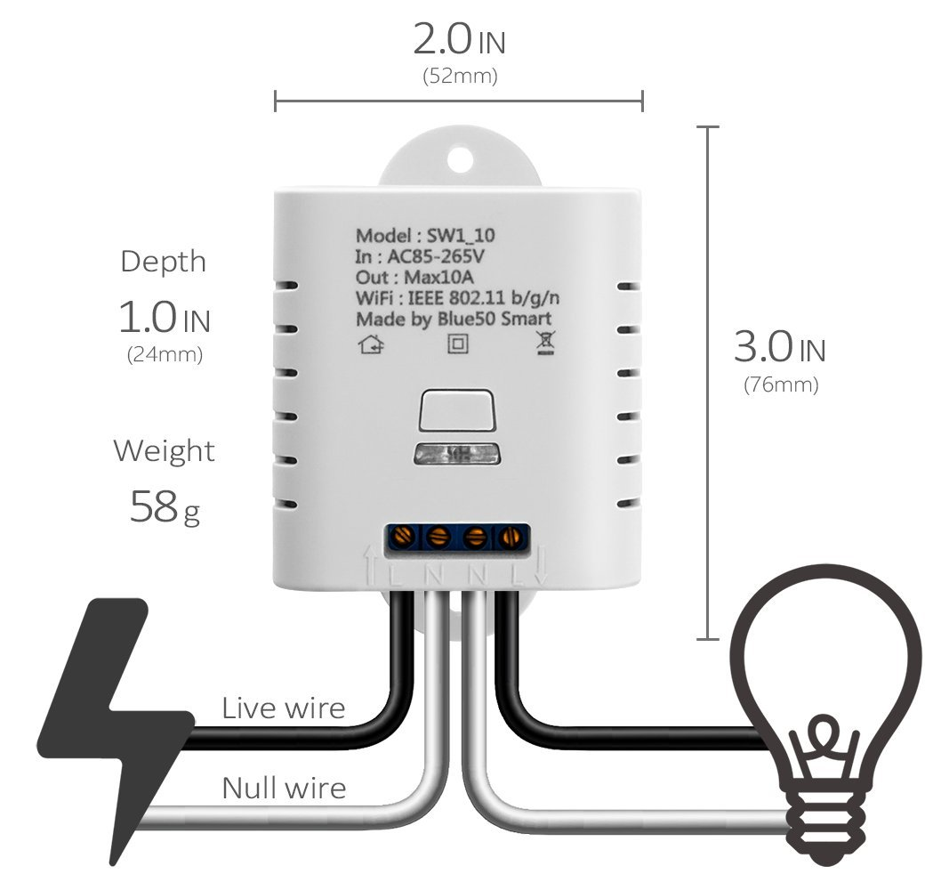Mimoo Smart Wireless Wifi Switches Remote Control Switch Diagram For 3 Way Ceiling Fan Light Electrical Diy Chatroom Compatible With Alexa Google Home Nest Smartphone App House