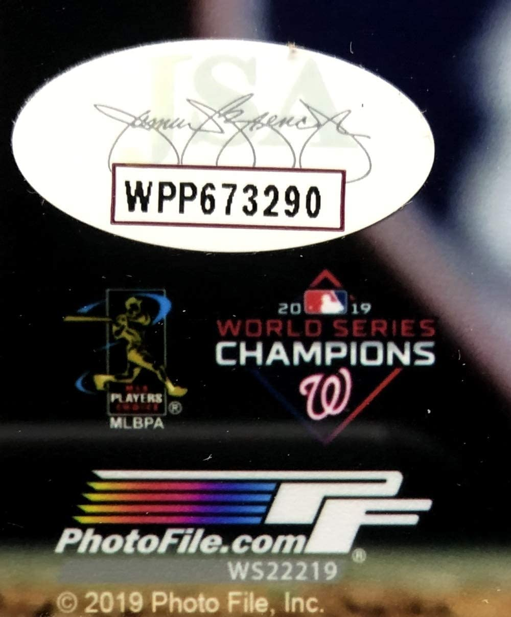 Howie Kendrick Signed Framed Washington Nationals 8x10 2019 World Series Photo JSA
