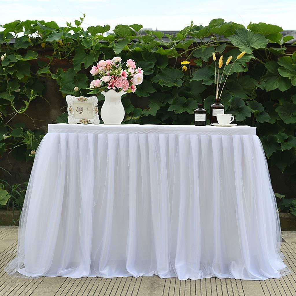 Jupe De Table Moelleuse Rectangulaire /À Une Couche//Circonf/érence De La Table,Adapt/ée Aux Mariages,F/êtes,Desserts,Table De R/éception Couleur : White, Taille : 29.52 * 39.37INCH GX Nappe De Table