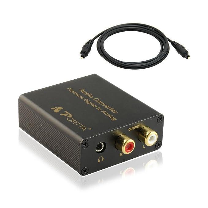 Portta N3CDASM - Conversor audio Toslink de digital a analógico: Amazon.es: Electrónica