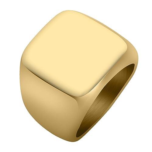 Amazon.com: PiercingJ acero inoxidable tono de oro cuadrado ...