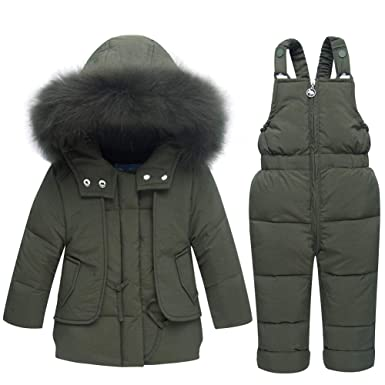 8e7a2c9c9 CADong Little Kids Baby Girls Boys Two Piece Snowsuits